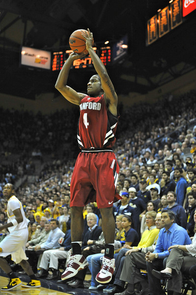 26 January 2008: Anthony Goods during Stanford's 82-77 win over California at the Haas Pavilion in Berkeley, CA.