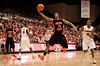 24 January 2009:  Oregon State Beavers guard-forward Seth Tarver (15) drives to the basket past Stanford Cardinal guard Jeremy Green (5) during the second half of the Cardinal's 77-62 loss to the Beavers at Maples Pavilion in Stanford, California.