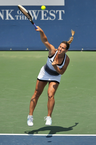15 July 2008:   Dominika Cibulkova of Slovakia during her 4-6, 6-3, 7-5 victory over in their  Nadia Petrova of Russia in their singles match at the Bank of the West Classic in Stanford, CA.