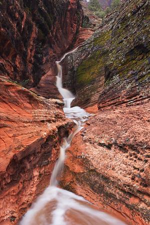 Falling Water-  Snow Canyon