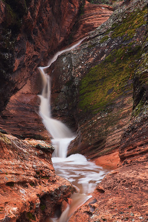 Padre Canyon is one of the most beautiful locations inside Snow Canyon State Park.  A beautiful waterfall formed during a heavy downpour.