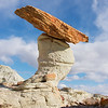 Off-balance hoodoo of Sidestep canyon.  I took many different angles of this particular hoodoo and liked this one because of its' remarkable 50-degree slanted cap rock