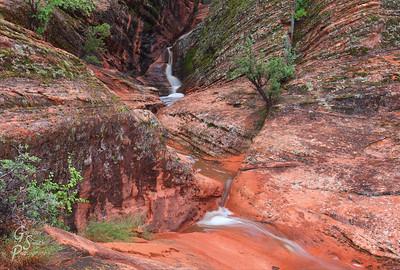 Approaching Padre Canyon Waterfall
