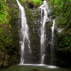 Makamakaole Double Waterfall<br /> There are several waterfalls along Makamakaole Stream but none offer the peace, harmony and balance that comes from this one, my favorite.  Getting here is half the fun, as the jungle trail is beautiful, remote and adventurous.