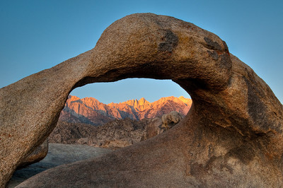 11/12 Galen's Arch at Alabama Hills in the Eastern Sierra.  We were shooting at sunrise packed all around the Mobius Arch otherwise known as Galen's Arch for the Galen Rowell who made it famous.  I was excited to have met John Shaw who was quietly shooting there with us.  Just another fantastic place to be.