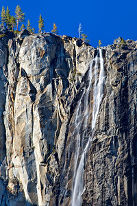 3/22 Ribbon Falls, Yosemite National Park.  We just got back from an excellent spring weekend in Yosemite.  70 degrees and water was flowing out of everywhere.  Ribbon Falls is to the side of El Capitan.  It only flows a few months out of the year and with the warm weather was flowing.  The skies weren't too exciting, but it still was nice!  I slowed this exposure down by upping the f-stop to F/38 and ISO 100. I managed to get a 1 second exposure.  It is nice to come away with something different from Yosemite.