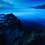 "1/11/10 ""Edge of the World""   Northern California Coastline at Dusk.  The waves smooth and ethereal, the rocks looking like they were from another planet.  This is a long exposure at dusk that I shot last night.  I love the blue tones that come out at dusk and the smooth waves from the long exposure.  More of my images can be found in my gallery or also join my Facebook Fan page <a href=""http://www.facebook.com/pages/Yosemite-and-Bay-Area-Nature-Photography-by-John-Harrison/190152125697"">http://www.facebook.com/pages/Yosemite-and-Bay-Area-Nature-Photography-by-John-Harrison/190152125697</a>."