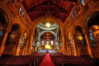 4/13 - Stanford Memorial Church inside near Palo Alto, California in the heart of Silicon Valley.  I captured this during a photowalk with Trey Ratcliff.  Just a dreary day raining outside and the beauty of the church on the inside.