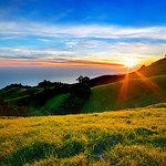 """4/16 - Spring Sunset in the Marin Headlands.  Mt Tam. State Park.   I wanted to include the starburst and lens flare for effect. I like it - do you?!   This is the kind of place I want to be on a Friday afternoon!   My latest images and updates are also on my fan page:  <a href=""""http://www.facebook.com/pages/Yosemite-and-Bay-Area-Nature-Photography-by-John-Harrison/190152125697"""">http://www.facebook.com/pages/Yosemite-and-Bay-Area-Nature-Photography-by-John-Harrison/190152125697</a>"""