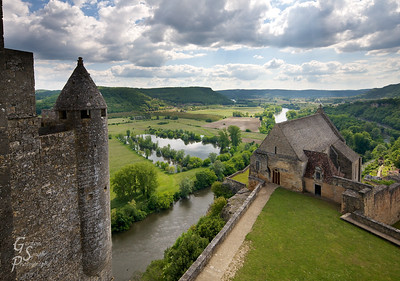 """The Castle View from Beynac Castle over the Dordogne River.  This is where the ending scenes from the movie """"Ever After"""" were filmed."""