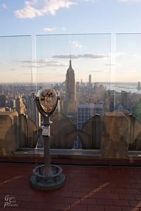 Empire View from atop the Rockafeller Center