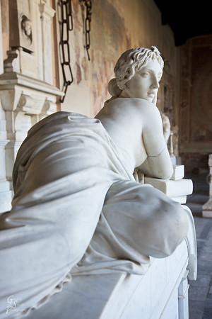 Marble Statue and Chains of Pisa