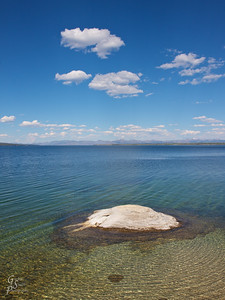 Fishing Cone of Yellowstone Lake.  This is an underwater geyser that grew slowly out from the lake