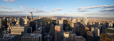 New York Uptown panorama taken from atop the Rockafeller Center