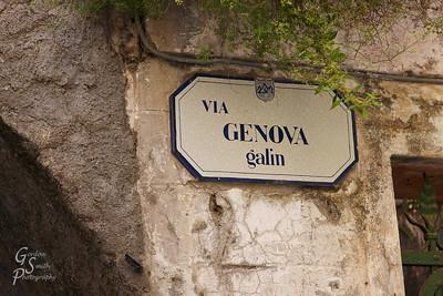 Monterosso Street Sign