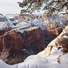Zion Snowy Cliff Edge