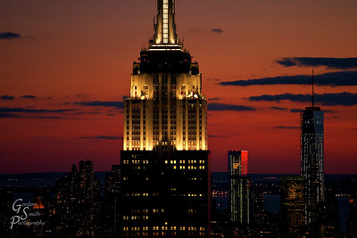 Empire State Building Close up at dusk