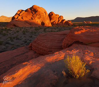 Jumble of Rocks This very descriptive title is what this area of Valley of Fire is called.  I found it silent, lovely and peaceful on this morning as the sunrise slowly came to the land.