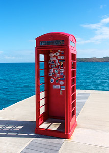 British Telephone Booth in the BVI