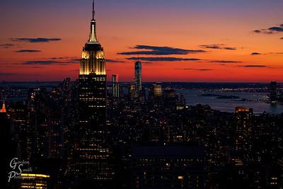 High Over Manhattan at dusk after a lovely sunset