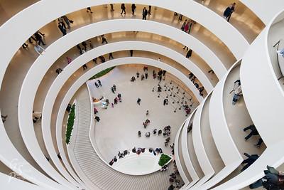 Guggenheim Looking Down in New York