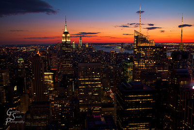 Manhattan Dusk in October