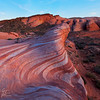 Valley on Fire<br /> This square crop of my photo shows Valley of Fire state park.  Everything seemed like it was ON fire at sunset while I visited the fire wave.