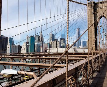 Downtown Manhattan as seen from the Brooklyn Bridge