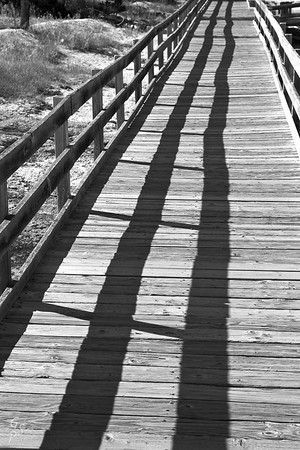 Walkway in black and white