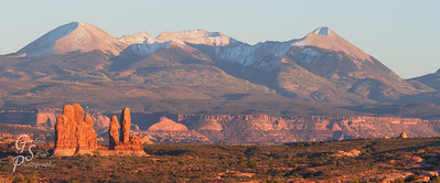Towers and La Sal Mountains