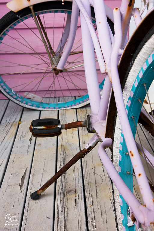 Pink Bicycle, Flat Tire