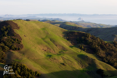 How Green was my Valley with Morro Rock in the distance, the hills above Cambia are gorgeous in the springtime.