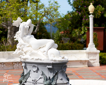 Greek Water Nymph by Leopoldo Ansiglioni on the main terrace of Hearst Castle