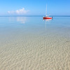 Clear Waters, Red Boat<br /> off the sand bar of Bahia Honda state park