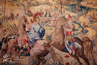 Tapestry depicting Battle