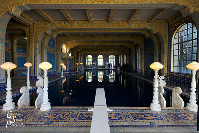 Diving Board of Roman Pool at Hearst Castle