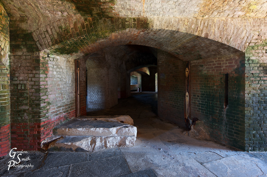 Corridors of Fort Zachary Taylor