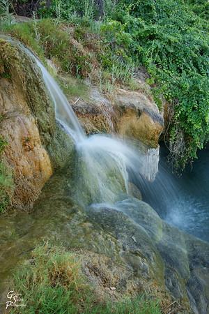 Lush Desert Waterfall