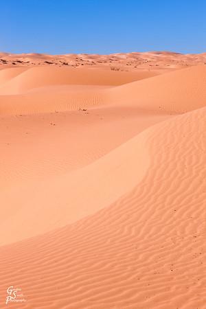 Beautiful Blue Sky and Orange Sand Dunes