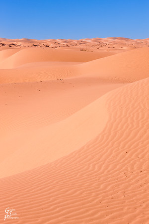 Beautiful Blue Sky and Orange Sand Dunes
