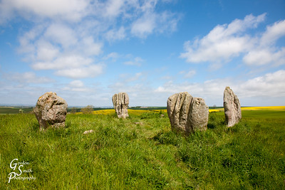 Duddo Stone Circle on a Hilltop