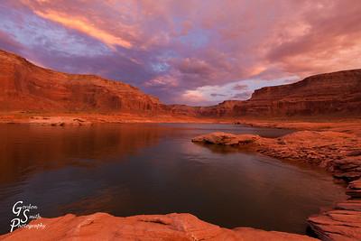 Purple Sunset Lake Powell