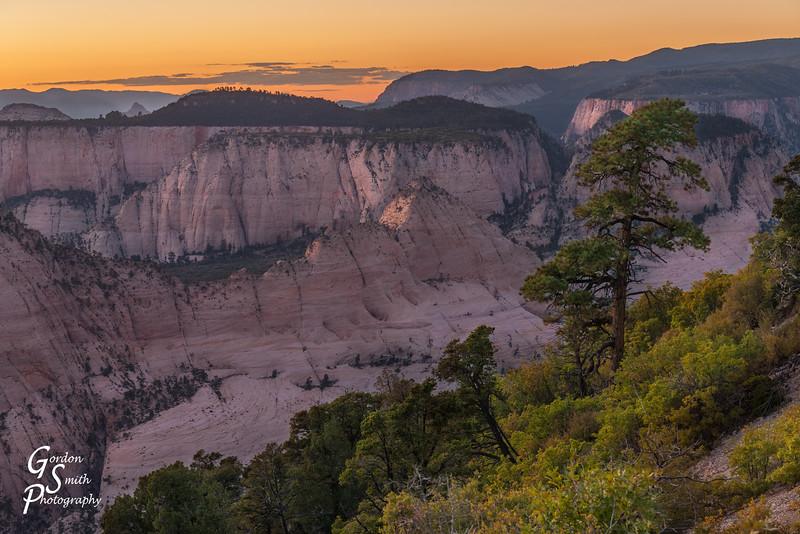 West Rim Trail Sunset Scene