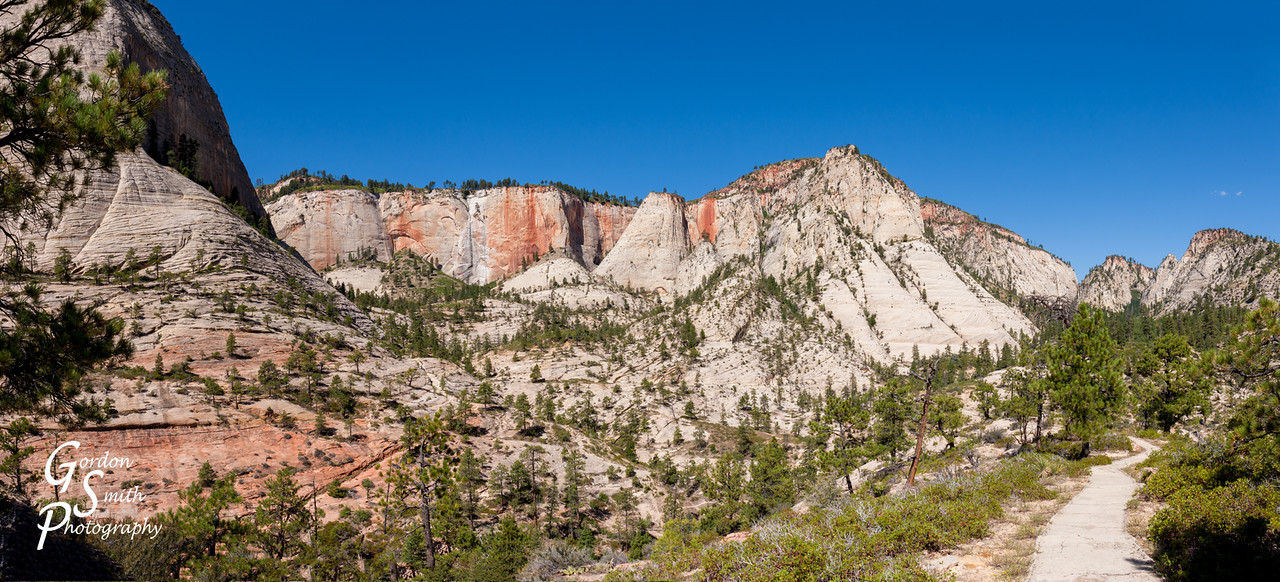 West Rim Trail ascending to Cabin Spring