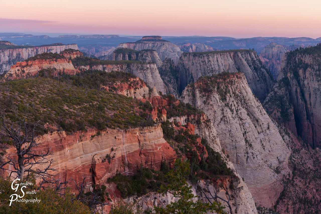 landscape photograph over the West Rim Trail in Zion