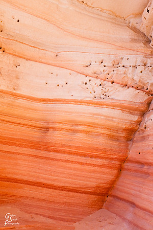 White Orange and Red Glowing Sandstone
