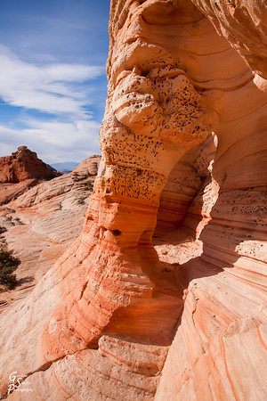 Tiny Hole in Sandstone Arch