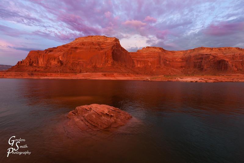 Lake Powell Purple Sunset
