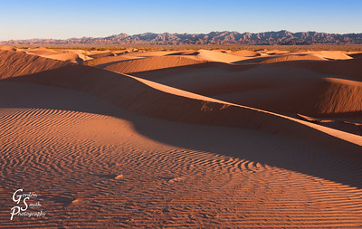 North Algodones Dunes and Mountains