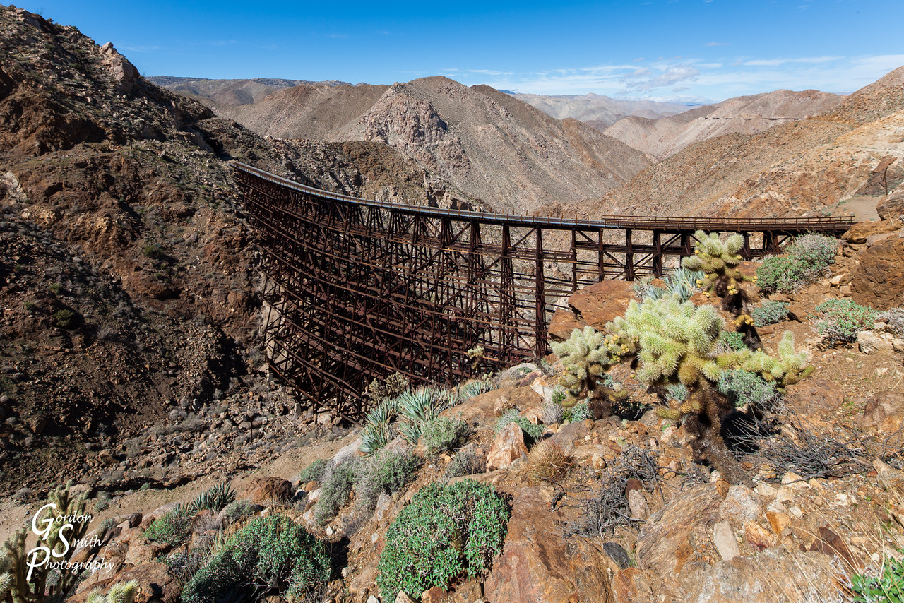 Goat Canyon trestle and cactus